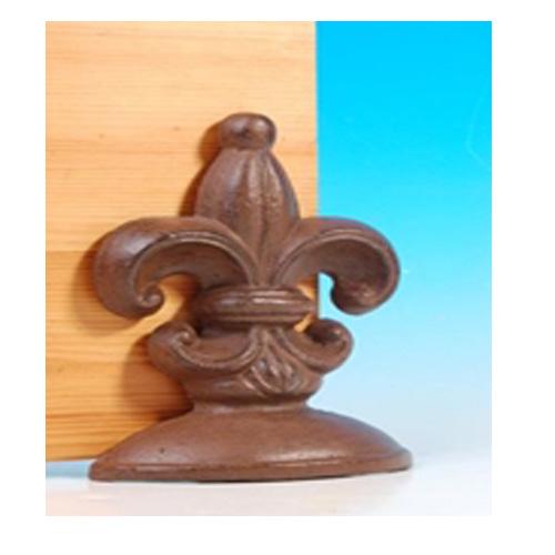 Decorative Fleur De Lys Cast Iron Door Stop