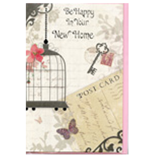 'Be Happy In Your New Home' Card