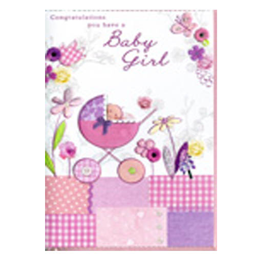 'Congratulations you have a baby girl' Card