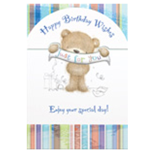 'Happy Birthday Wishes Just For You' Card
