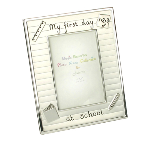 My First Day At School silver colour photo frame by Juliana