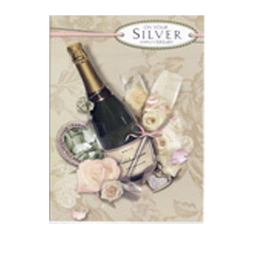 'On your silver anniversary' card by Simon Elvin