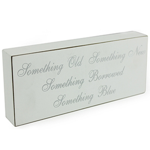 'Something Old, Something New, Something Borrowed, Something Blue' Wedding Plaque