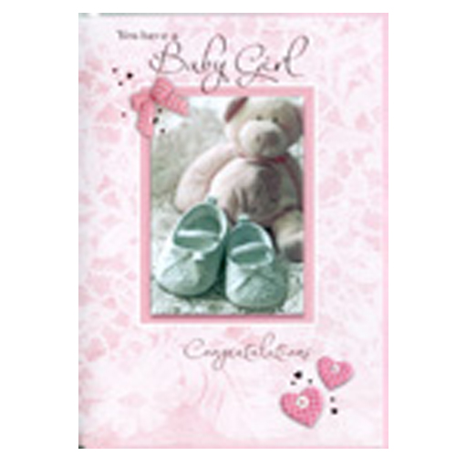 'You Have A Baby Girl, Congratulations' Card