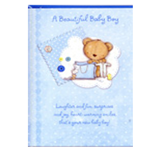 A beautiful blue baby boy card