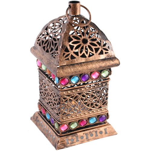 A Rustic Copper Design Bejewelled Lantern