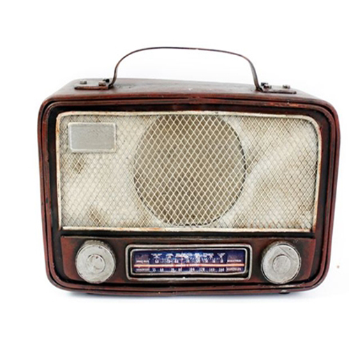Antique Old Style Tin Radio Ornament