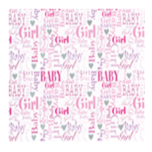 Baby Girl Gift Tag by Simon Elvin