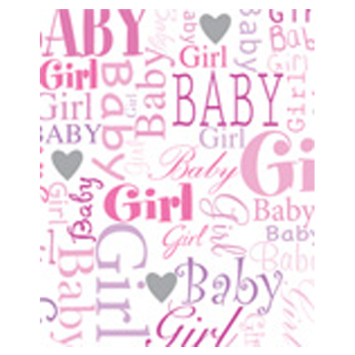 Baby Girl Gift Wrap Paper by Simon Elvin