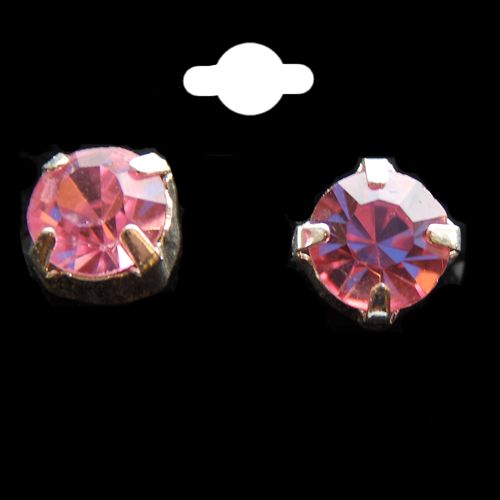 Baby Pink Crystal Stud Earrings