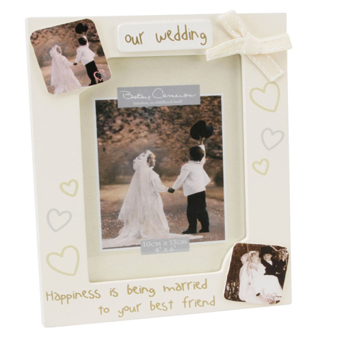 Betsy Cameron 'Our Wedding Frame', Happiness is being married to your best friend