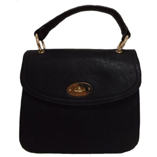 Black Satchel Style Small Ladies Handbag