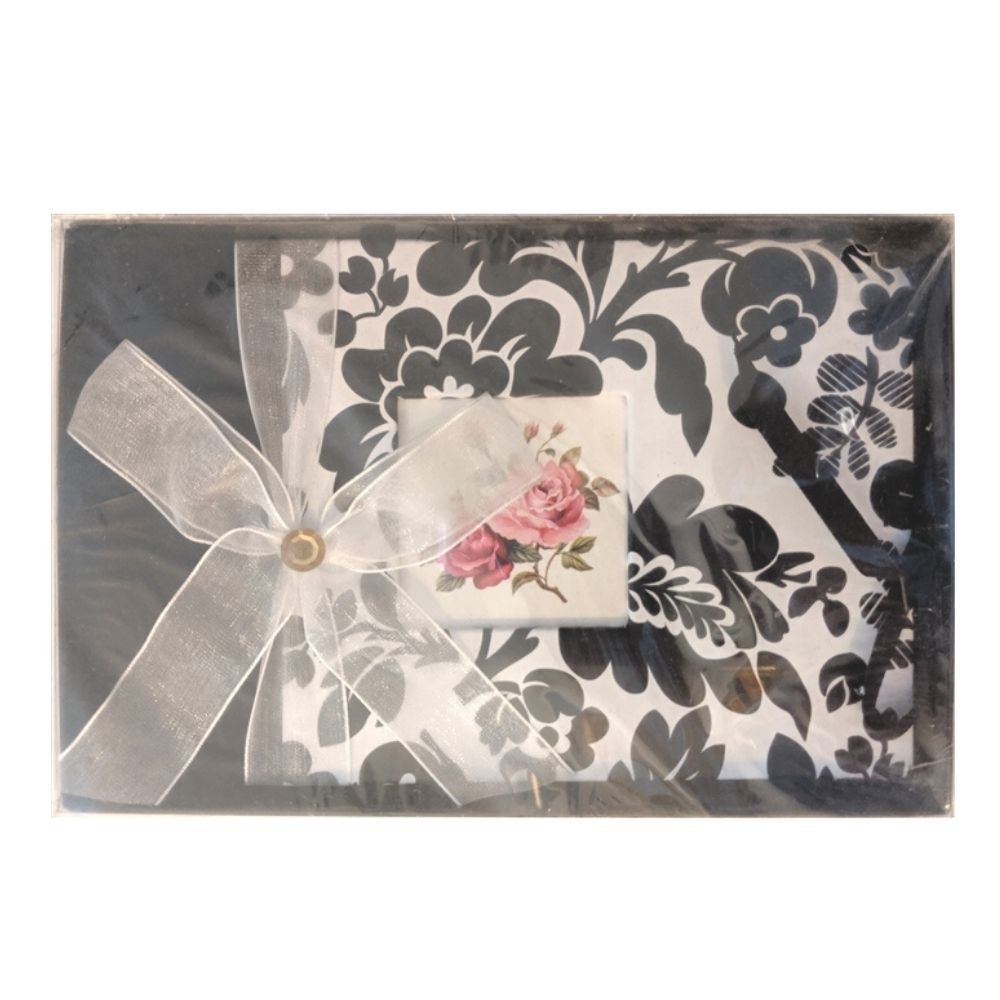 Black & White Floral Photo Album