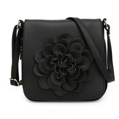 Blossom Crossbody Handbag in Black