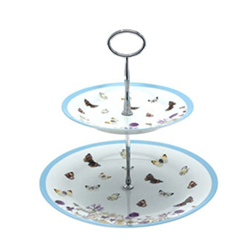 Butterfly Meadow Design Cake Stand