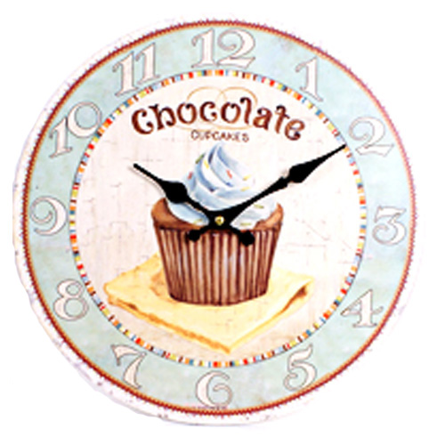 Chocolate Cupcake Design Wall Clock