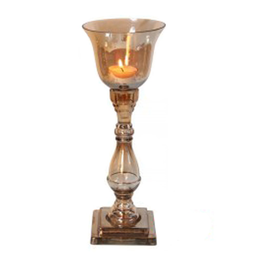 Copper Lustre Goblet Design Candle Holder