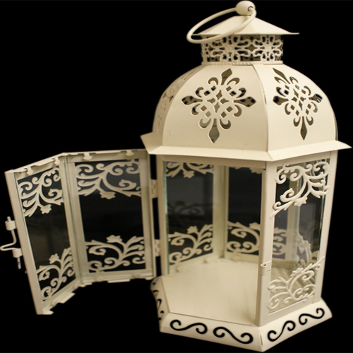 Cream Coloured Lantern with intricate pattern design