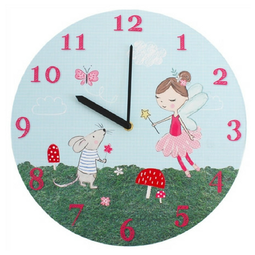 Cute Fairy and Mouse Design Clock
