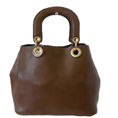 Dark Brown Satchel Style Handbag