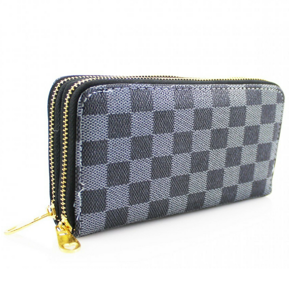 cf1cc189853 designer-inspired-black-plaid-double-zip-purse-3030-p.png