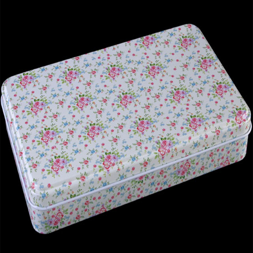 Floral Design Storage / Keepsake Tin