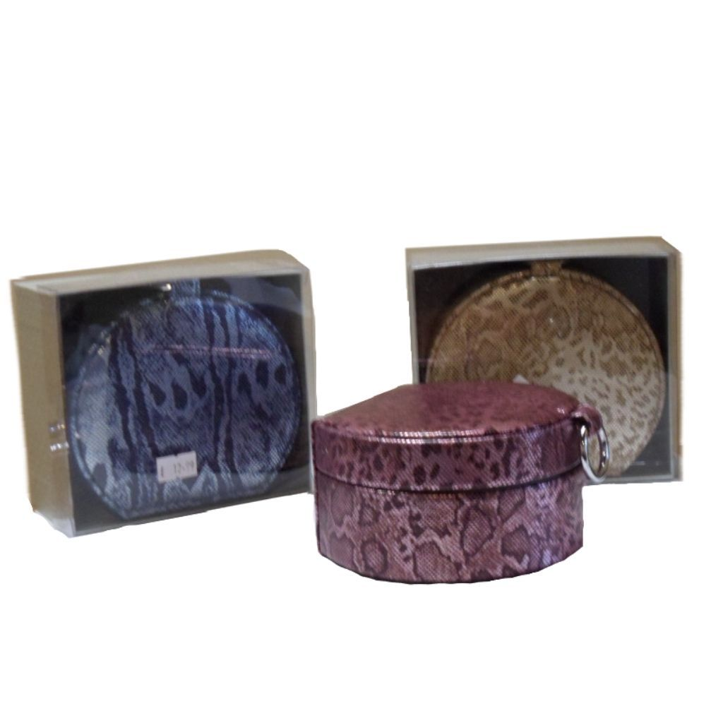 Ladies Round Shape Shimmer Jewellery box