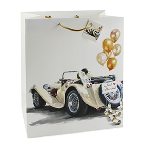 Large Wedding Car Design Gift Bag by Macneill Design