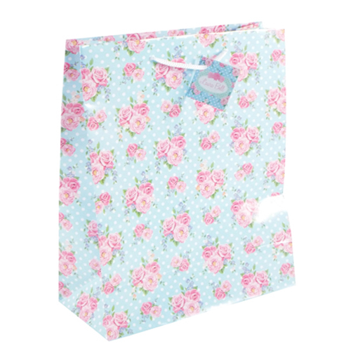 Laura Bell Floral Print Gift Bag comes in two sizes