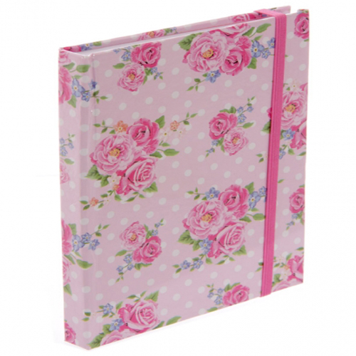 Laura Bell Pretty Pink Floral Design Chintz Notebook