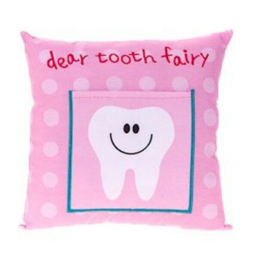 Little Girl Tooth Fairy Pillow in Pink