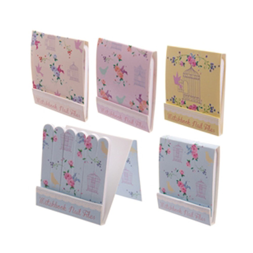 Matchbook Nail Files with a floral design, six small files in each book