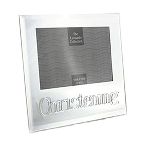 Mirrored Christening Photo Frame from the Leonardo Collection