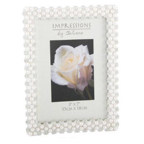 Modern Impressions Pearl & Crystal Photo Frame
