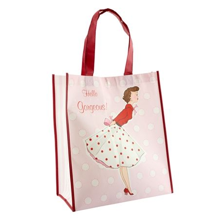 Mrs Smith Canvas Shopping Bag by Hearts Design
