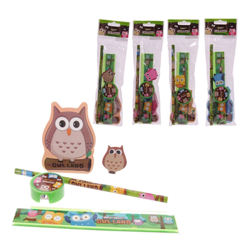 Owl Land Design Kids Stationery Set