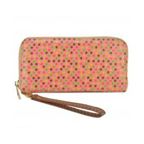 Pink Spotted Design Purse