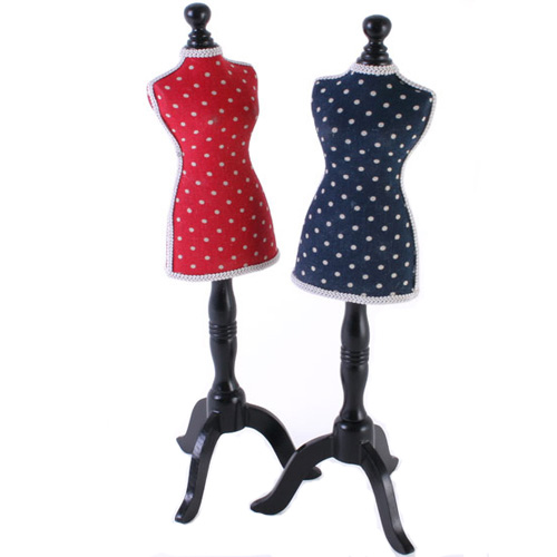 Polka Dot Jewellery Holder on a wooden stand