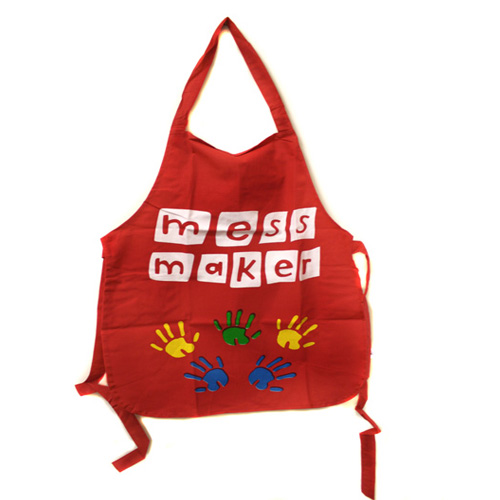 Red Mess Maker Patterned Kids Apron