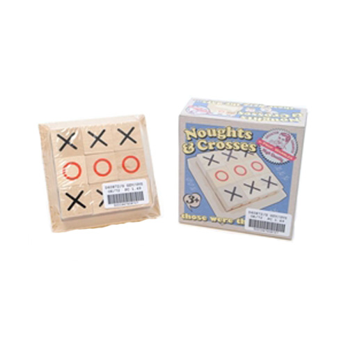 Retro Wooden Noughts & Crosses Game