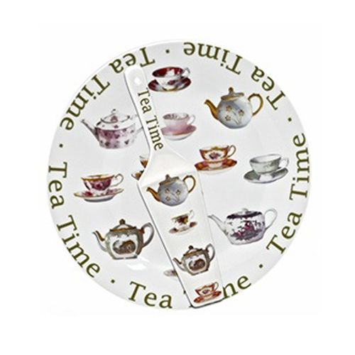 Tea Time Cake Plate & Matching Server