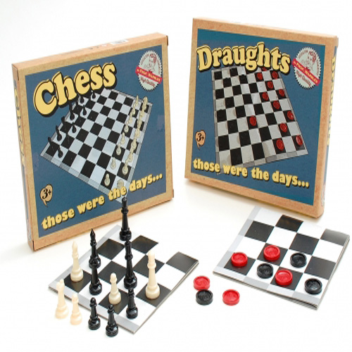 Those Were The Days...Retro Chess or Draughts Board Game