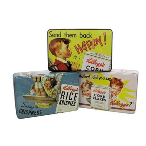 Vintage Kelloggs Design Storage Tin's