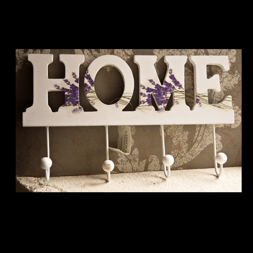Wall Hanging Home Sign with four hooks