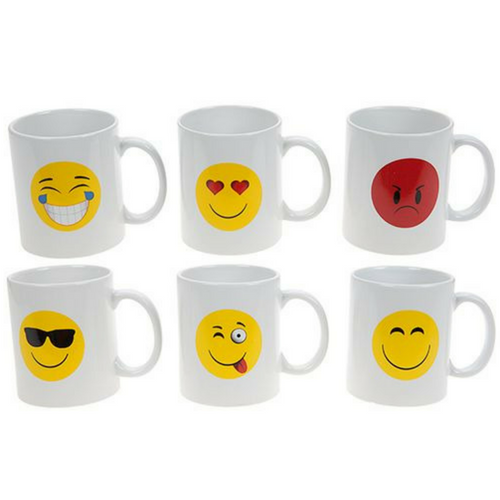 White Emoji Design Mug
