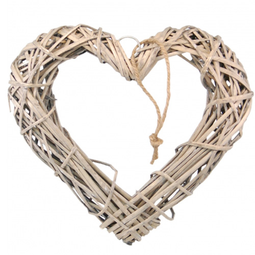 Wicker Natural Wooden Hanging Heart