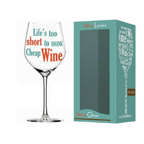 Wine Lover 'Life Wine' Glass