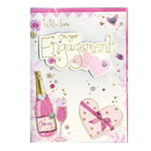 With Love on your engagement card