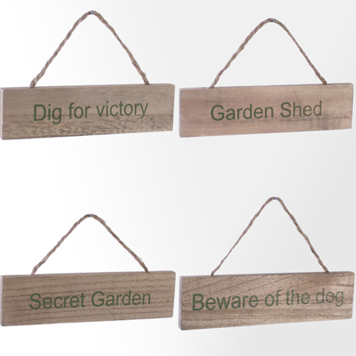 Wooden Garden Plaque