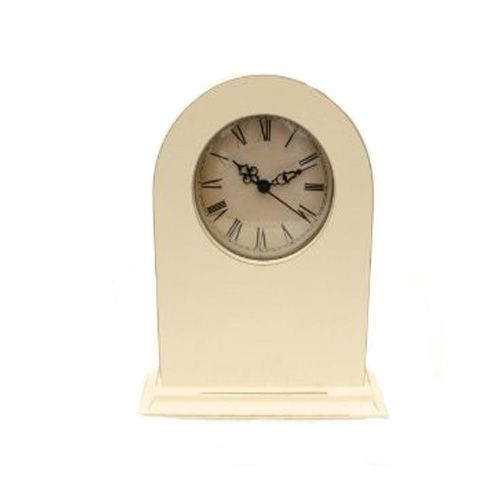 Wooden Shabby Chic Cream Mantel Clock